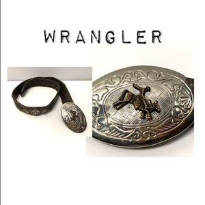 Vintage Wrangler Belt with rodeo buckle